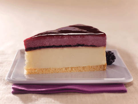 Blackberry Sour Cream Cheesecake
